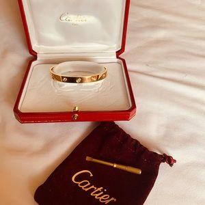 Authentic Cartier 10diamond love bracelet